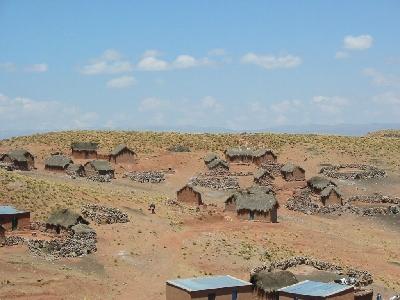 ボリビアの田舎で