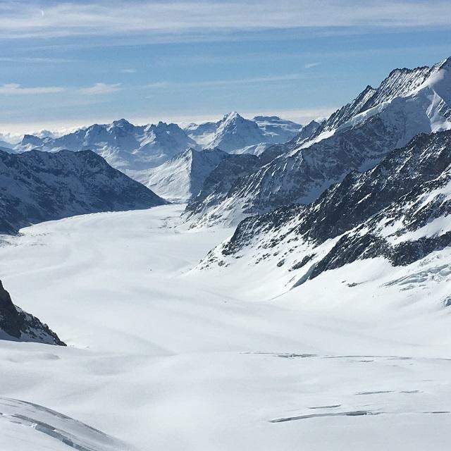 冬のスイスハイキング0