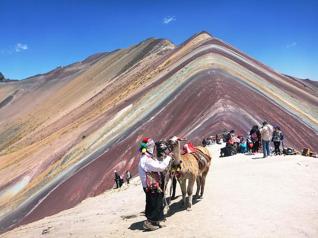 ペルーの絶景 レインボーマウンテン