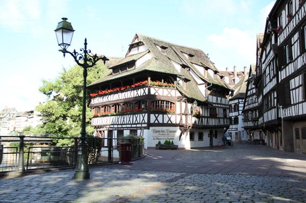 ストラスブールの中世の街並み